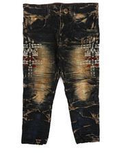 Bottoms - Bike Fit Embroidery And Stud Jeans (2T-4T)