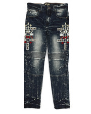 Jeans - Bike Fit Embroidery And Stud Jeans (8-20)-2217292