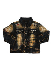 Boys - Embroidery And Stud Jean Jacket (4-7)