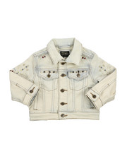 Outerwear - Embroidery And Stud Jean Jacket (2T-4T)-2216934