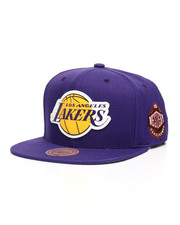 NBA, MLB, NFL Gear - Los Angeles Lakers Silicone Grass Snapback Hat-2218022
