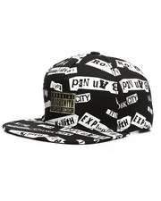 Hats - Allover Print Snapback Hat-2218039