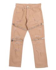 Pants - Stretch Fine Twill Rip & Repair Moto Zip Pants (8-20)-2217650