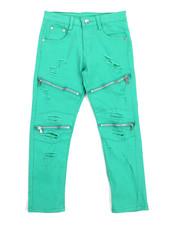 Phat Farm - Stretch Fine Twill Rip & Repair Moto Zip Pant (8-20)-2217727