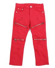 Bottoms - Stretch Fine Twill Moto Rip & Repair Zip Pant (4-7)-2217162