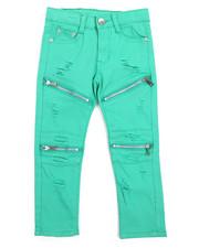 Bottoms - Stretch Fine Twill Rip & Repair Moto Zip Pant (4-7)-2217235