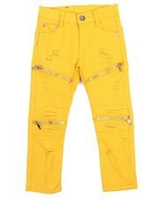 Bottoms - Stretch Fine Twill Moto Rip & Repair Zip Pant (4-7)-2217019