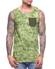 Buyers Picks - Tie Dye Tank w Slub Pocket-2219328