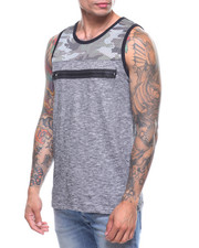 Buyers Picks - Camo Mesh and Slub Tank w Zip Detail-2219304