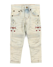 Bottoms - Bike Fit Embroidery And Stud Jeans (2T-4T)-2219069