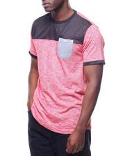 Shirts - MESH AND SLUB CUT & SEW TEE-2220035