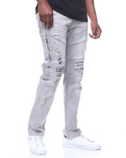 Jeans & Pants - RIPS AND TEARS SIDE ZIPPER JEAN-2219984