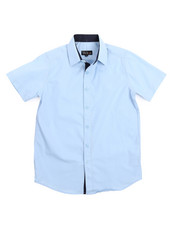 Button-downs - Solid Woven Shirt (8-20)-2219097
