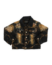 Outerwear - Embroidery And Stud Jean Jacket (2T-4T)-2218843