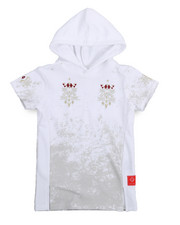 Hoodies - French Terry Embroidered Hooded Tee (4-7)-2217333