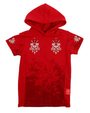 Hoodies - French Terry Embroidered Hooded Tee (2T-4T)-2219066