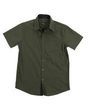 Boys - Solid Woven Shirt (8-20)-2219092