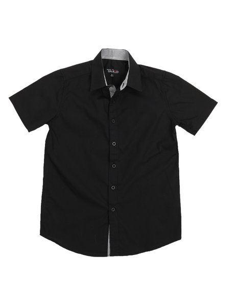 Arcade Styles - Solid Woven Shirt (8-20)