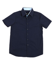 Boys - Solid Woven Shirt (8-20)-2219087