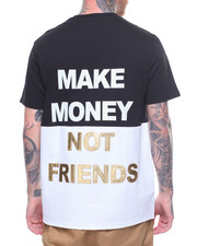 MAKE MONEY NOT FRIENDS - COLOR BLOCK MMNF LOGO TEE-2218525