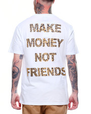 MAKE MONEY NOT FRIENDS - LEOPARD MMNF LOGO TEE-2218504