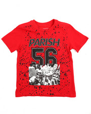 Parish - Crimson Red Foil Graphic Tee (2T-4T)-2216252