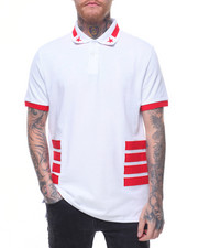 Hudson NYC - STAR & Side Stripe Polo Shirt-2220654