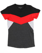 Boys - S/S Crew Neck Color Block Tee (8-20)-2219883