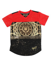 SWITCH - Color Block Foil Print Football Jersey (4-7) -2220333