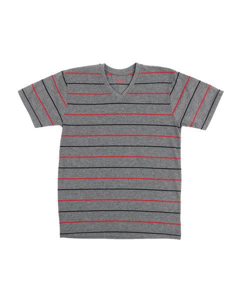 Arcade Styles - 2 Tone Stripe V-Neck Tee (8-20)