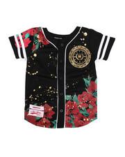 SWITCH - Flower Print Baseball Jersey (4-7)-2220328