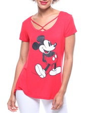 Graphix Gallery - Mickey Mouse Spongy Twist Neck Tee-2219061
