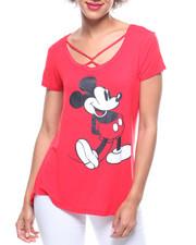 Short-Sleeve - Mickey Mouse Spongy Twist Neck Tee-2219061