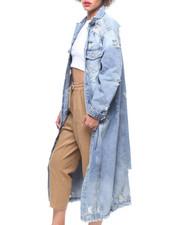 Fashion Lab - Maxi Length Denim Jacket-2220230