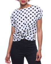 Fashion Lab - Polka Dot Wrap Front L/S Blouse-2218559