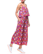 Fashion Lab - Floral Halter Ruffled Jumpsuit-2218544