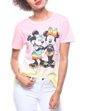 Graphix Gallery - Mickey & Minnie HiLow Dip Dye Tee-2218574
