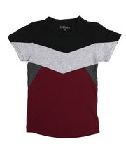 Arcade Styles - Crew Neck Color Block Tee (8-20)-2220951