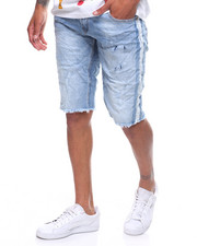 Buyers Picks - BLEACHED STRIPE DENIM SHORT-2206606