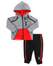 Sets - 2 Piece Hooded Zip Tricot Jacket Set (Infant)-2220694