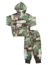Parish - Camo Print Nylon Jogger Set (4-7)-2220894