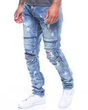 Jeans & Pants - Ali BLEACHED & DISTRESSED Denim In Stone Wash-2221339