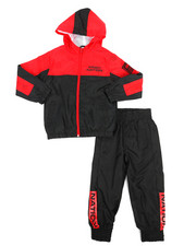 Parish - 2 Pc Color Block Nylon Jogger Set (8-20)-2220841