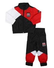 Parish - 2 Pc Color Block Nylon Jogger Set (2T-4T)-2220876