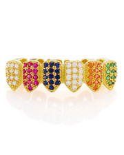 King Ice - Multi Colored Bottom Grillz-2221018