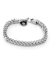 King Ice - 6mm White Gold Stainless Steel Franco Bracelet-2221015