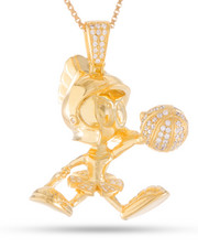 King Ice - Space Jam x KING ICE - .925 Sterling Silver Marvin the Martian Necklace-2221036