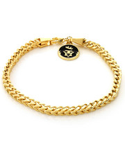 Jewelry & Watches - 6mm Gold Stainless Steel Franco Bracelet-2221017