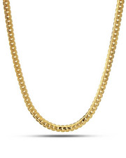 King Ice - 5mm 14k Gold Moon Cut Cuban Chain-2221027
