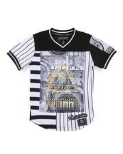 SWITCH - 3D Embossed Money Print Football Tee (8-20)-2220889
